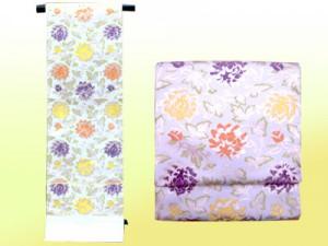 袋帯(河合美術織物:みやこ牡丹唐草文)