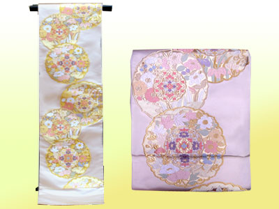 袋帯(小森織物:鏡裏花園)